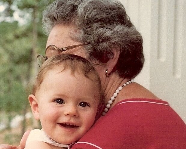 grandmother and me baby