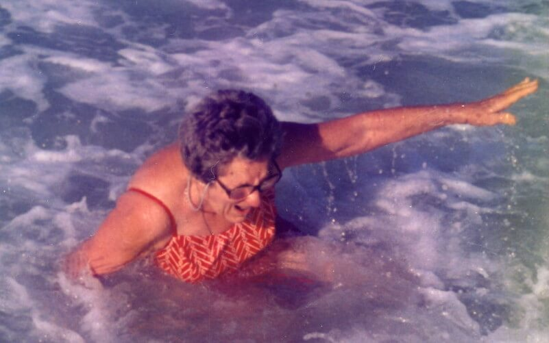 My grandmother's first time in the ocean (in her 70s!)