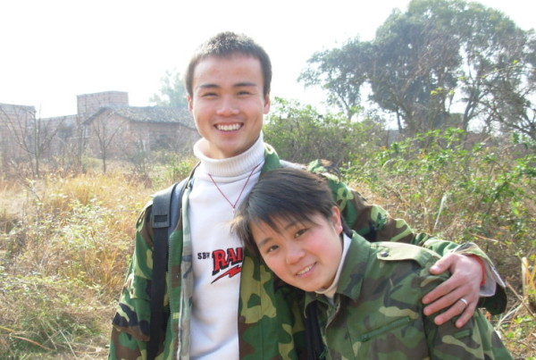 Two of my favorite students in China