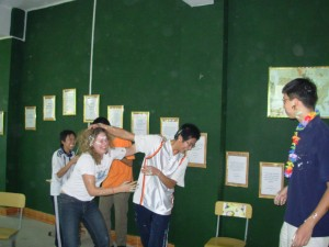 Food Fight with my Students in China