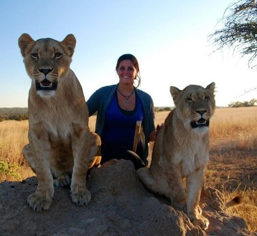 Melissa with Lions